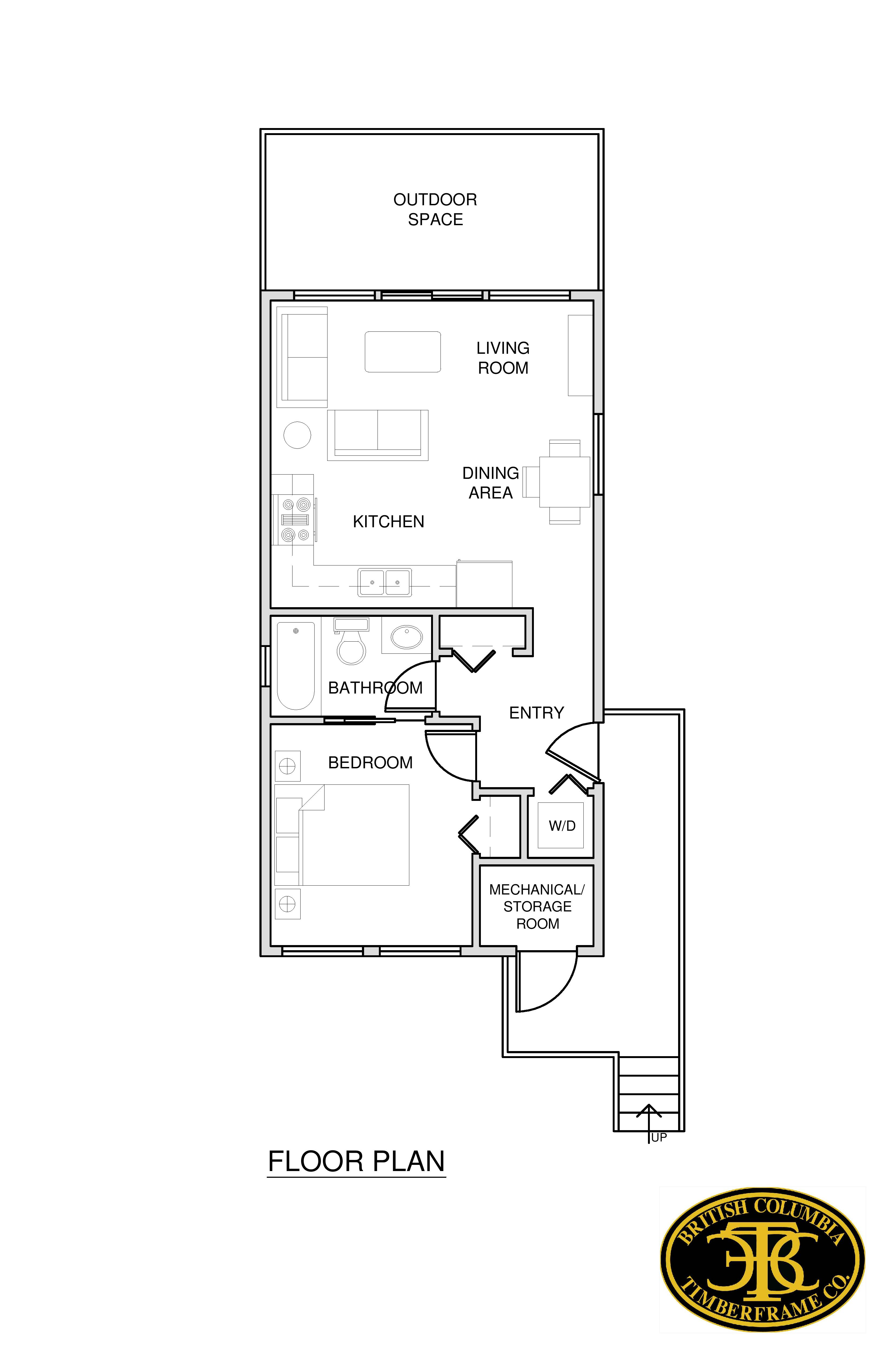 Cabins cottages british columbia timberframe company for Bc floor plans
